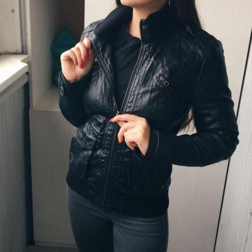 Кожаная куртка. экокожа. Фото 2.
