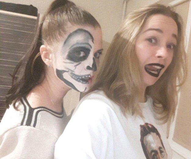 Макияж на хеллоуин, вечерний дневной pin up макияж. Фото 4. Мурино.