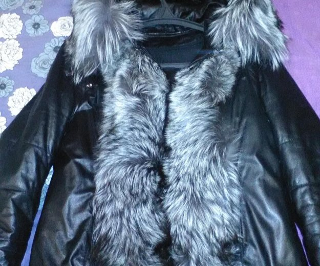 Куртка кожаная с чернобуркой. Фото 2. Екатеринбург.