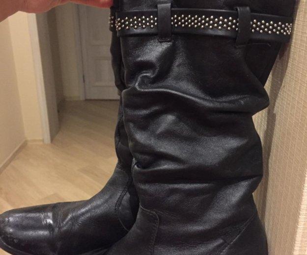 Кожаные сапоги на девочку. Фото 3.