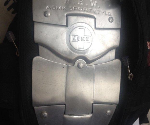 Рюкзак a.s.m.k. с металическими пластинами. Фото 4. Москва.