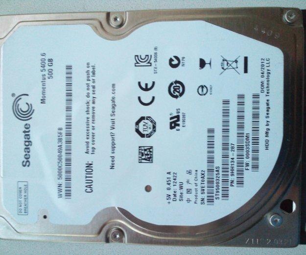 Жесткий диск для ноутбука seagate 500 gb , hdd. Фото 3. Ангарск.