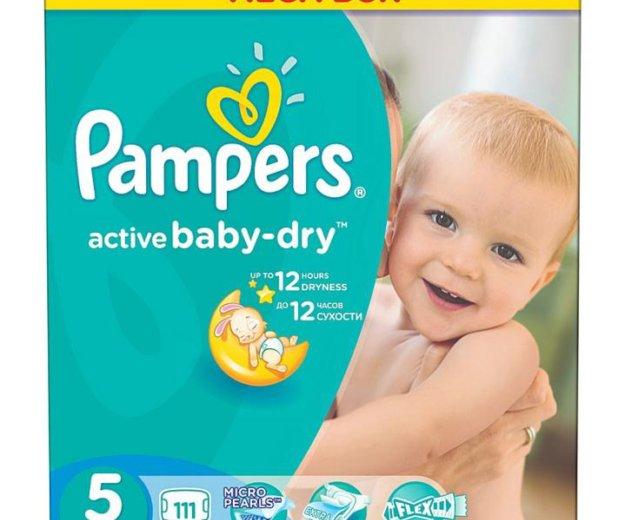 Подгузники pampers active baby-dry 3, 5. Фото 2. Владикавказ.