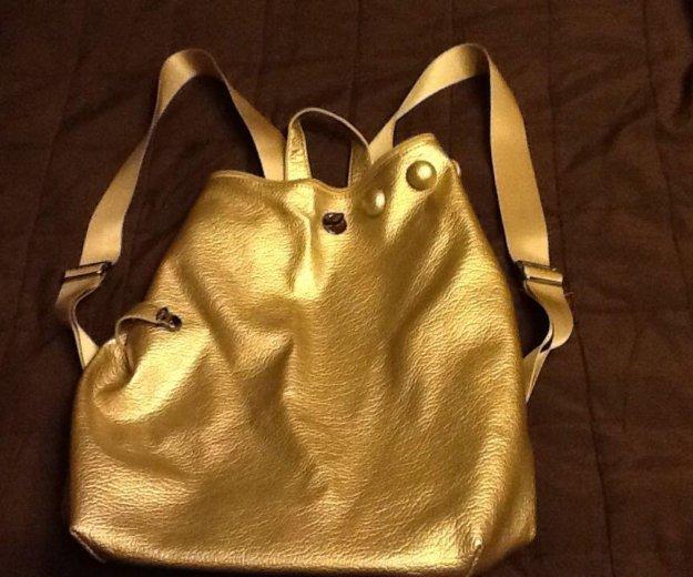 Серебристый женский рюкзак, новый. Фото 2. Удельная.