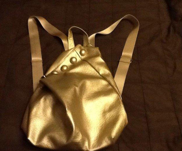 Серебристый женский рюкзак, новый. Фото 3. Удельная.