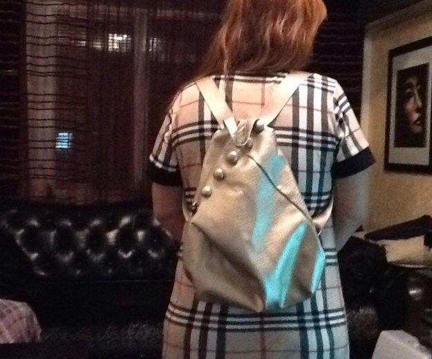 Серебристый женский рюкзак, новый. Фото 4. Удельная.