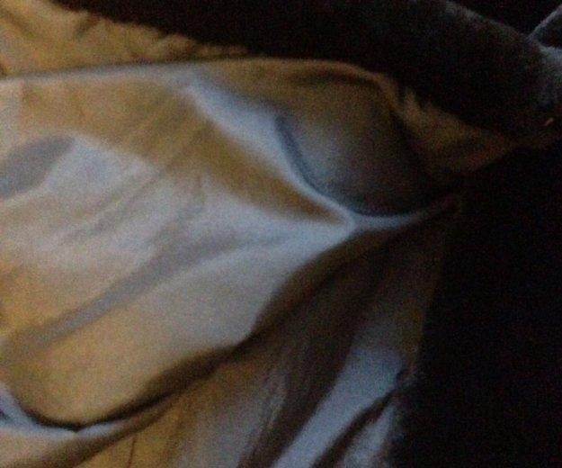 Шуба .облегченный мутон с норкой и капюшоном. Фото 4. Казань.