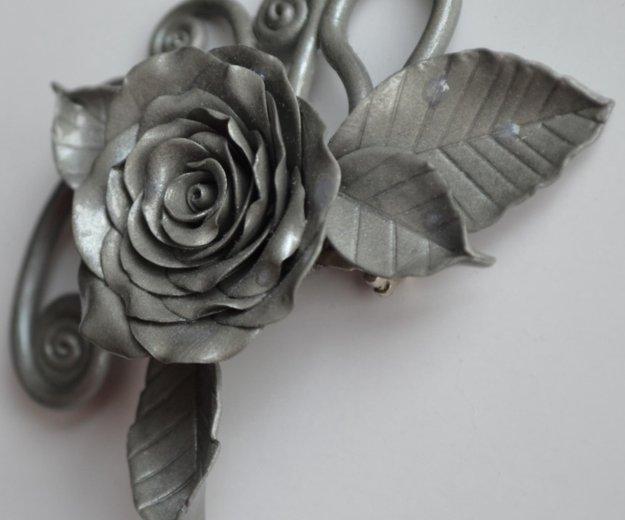 """Брошь  """"серебряная роза"""". Фото 1. Москва."""
