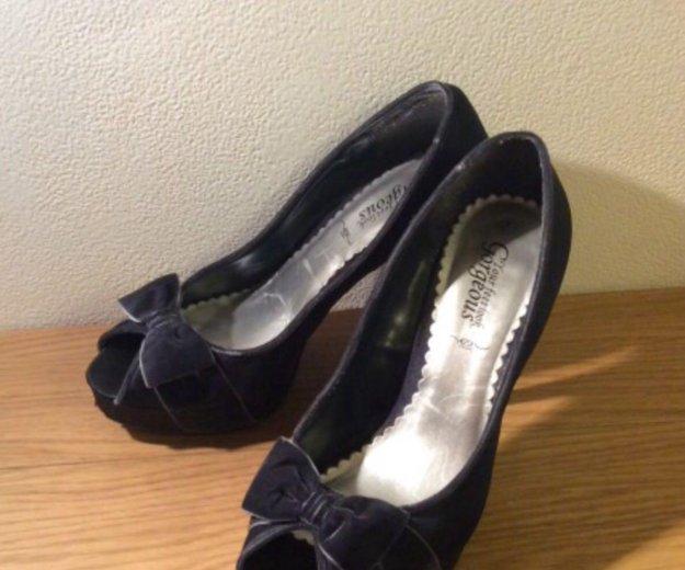 Туфли темно-синие, 41 размер. Фото 2. Москва.