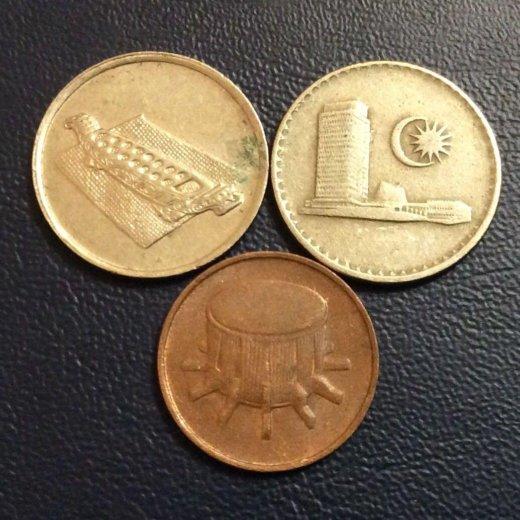 Монеты малайзии. Фото 2. Москва.