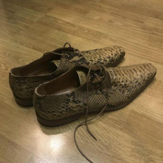 Новые мужские туфли из кожи питона, размер 45. Фото 1. Москва.