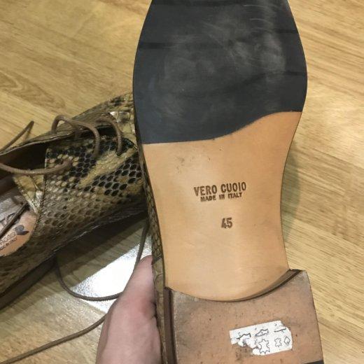 Новые мужские туфли из кожи питона, размер 45. Фото 4. Москва.