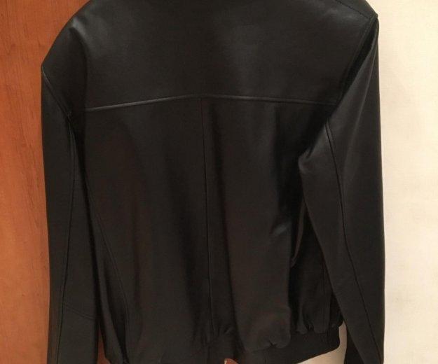 Куртка кожаная, не много утеплённая. Фото 2. Домодедово.