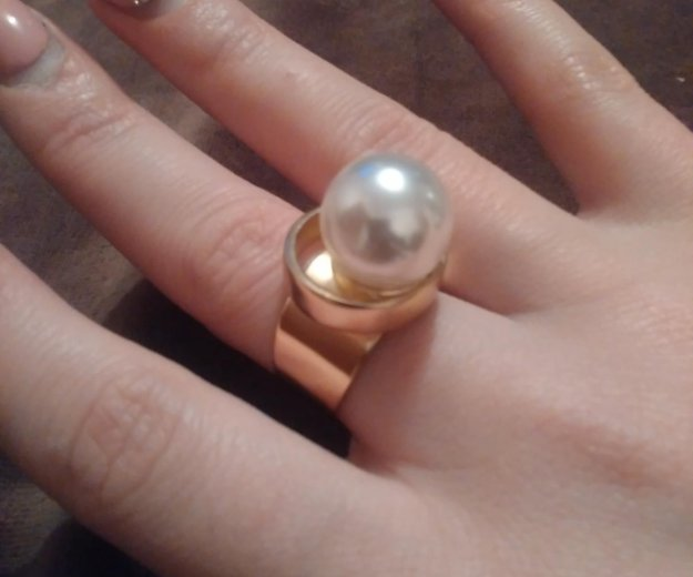 Кольцо с жемчугом. Фото 1. Зеленоград.