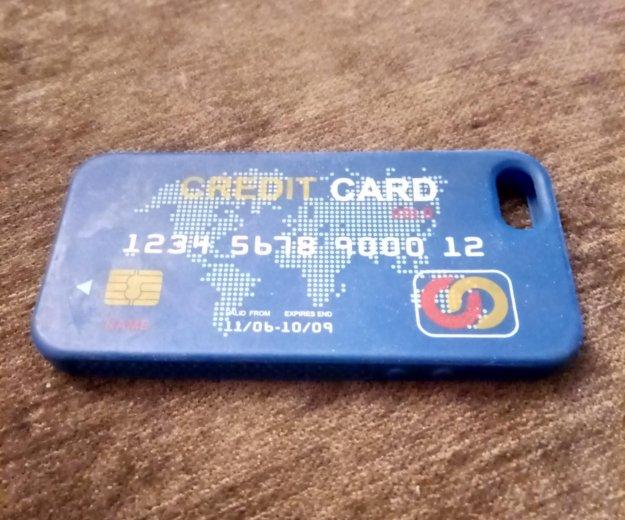 Чехол в виде кредитной карты для iphone 5 и 5s. Фото 1. Москва.