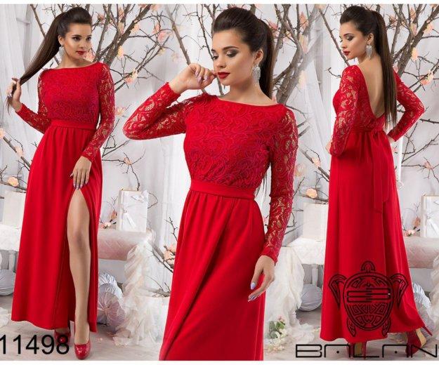 Красное длинное платье. Фото 1. Елец.