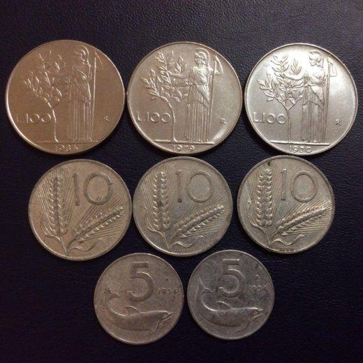 Итальянские монеты. Фото 1. Москва.