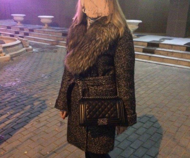 Зимнее пальто с натуральным мехом 👌🏻. Фото 1. Москва.