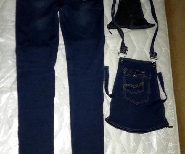 Джинсовый комбинезон-джинсы для беременных. Фото 3. Екатеринбург.