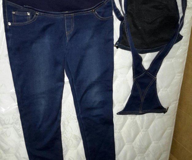 Джинсовый комбинезон-джинсы для беременных. Фото 4. Екатеринбург.