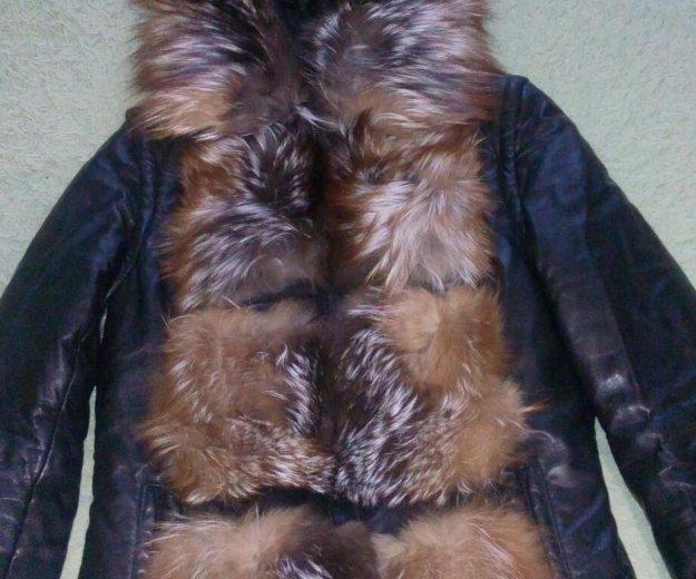 Зимняя кожаная куртка. Фото 1. Нефтеюганск.