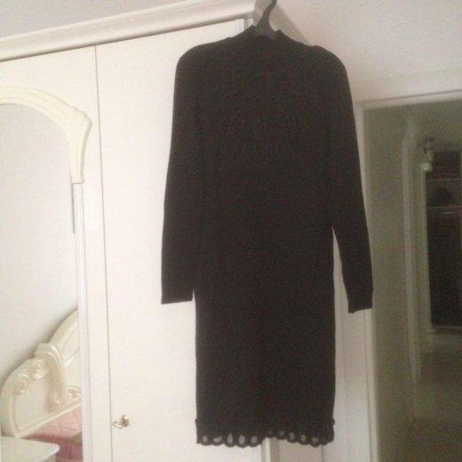 Платье трикотажное чёрного цвета, 50 размер. Фото 2. Москва.