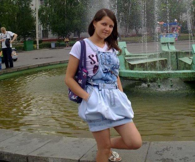 Джинсовый сарафан. Фото 1. Бийск.