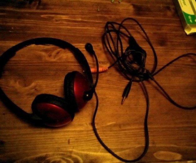 Наушники с микрофоном. Фото 1. Курск.
