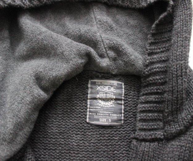Вязаный кардиган с тёплым капюшоном. Фото 2. Сургут.