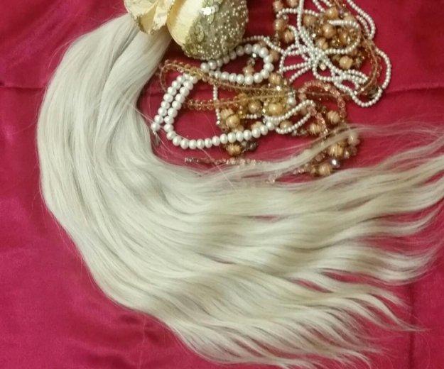 Волосы для наращивания.блонд 60см 100гр срез. Фото 1. Красноярск.