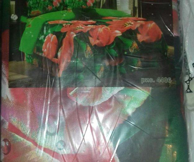 Постельное белье 2-х спальное с евро простыней. Фото 1. Одинцово.