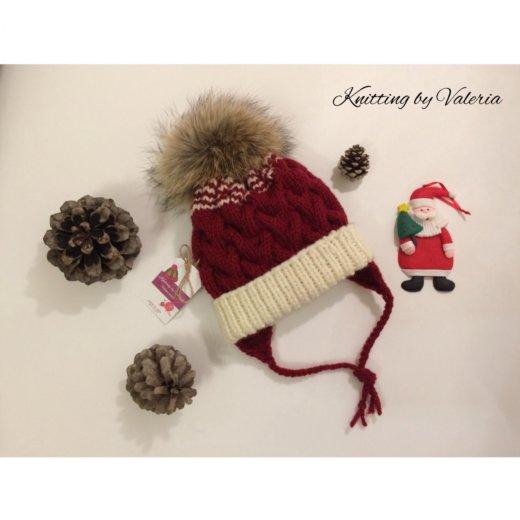 Детская зимняя шапочка ручной работы. Фото 1. Москва.