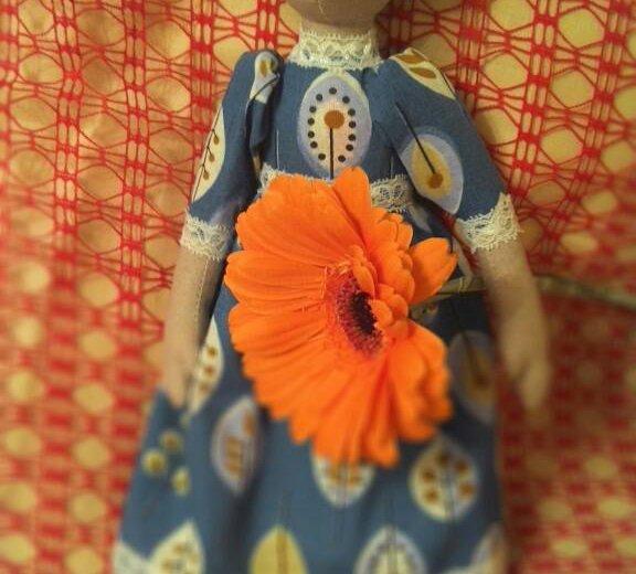 Текстильная кукла варвара. Фото 1. Ижевск.