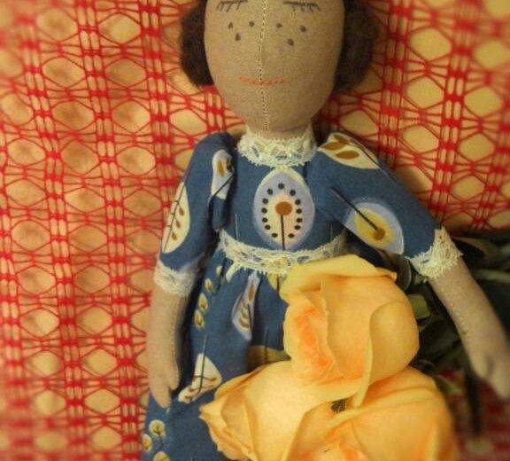 Текстильная кукла варвара. Фото 2. Ижевск.