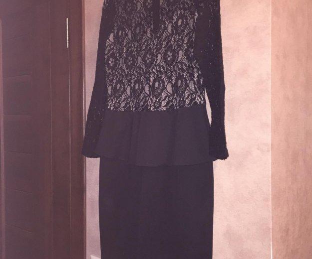 Турецкое платье с баской  (42-44) размер. Фото 1. Москва.