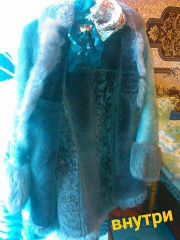 Продам дубленку жен натуральный мех лама раз.44-46. Фото 2. Санкт-Петербург.