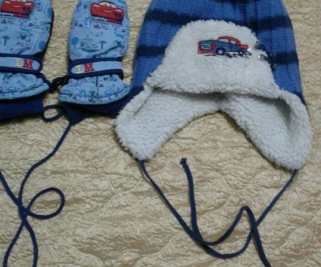 Детская шапочка и варежки. Фото 1. Пермь.