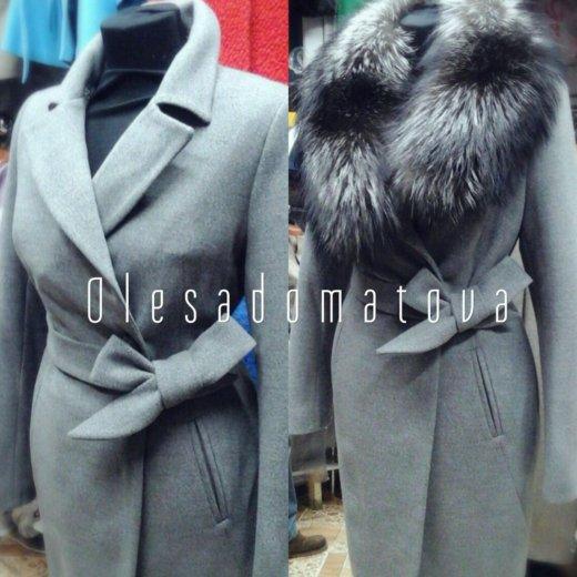 Зимнее пальто серое. Фото 1. Химки.