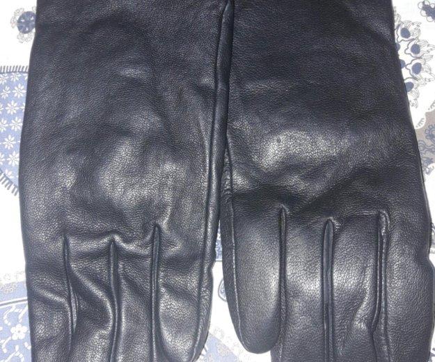 Кожанные черные перчатки. Фото 1. Москва.