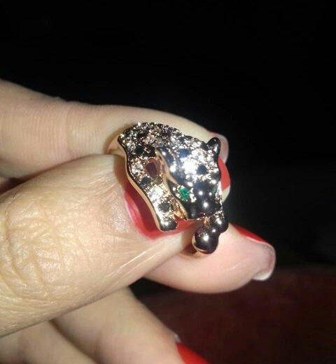 Кольцо пантера с кристаллами. Фото 3. Москва.