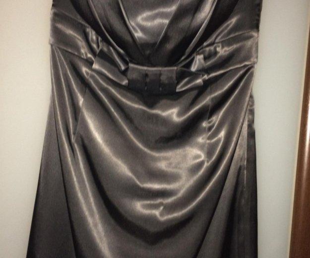 Нарядное атласное платье бюстье. Фото 2. Санкт-Петербург.