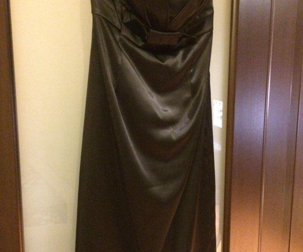 Нарядное атласное платье бюстье. Фото 1. Санкт-Петербург.
