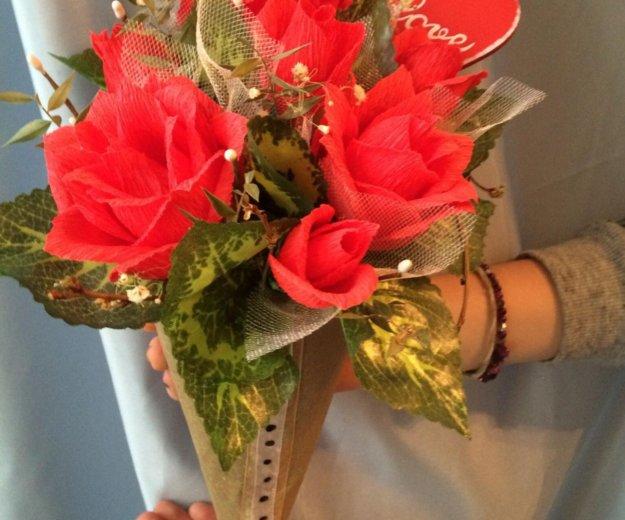 Цветочки из гофрированной бумаги😇😉. Фото 1. Самара.