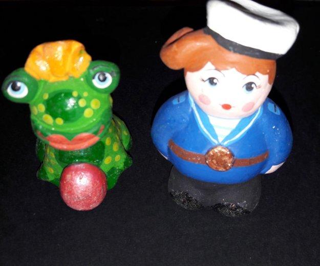 Дымковская глиняная игрушка. Фото 1. Подольск.