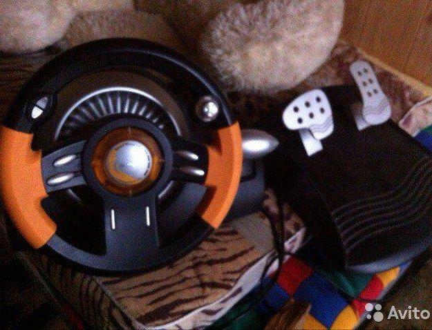Игровой руль с педалями genius. Фото 1. Пушкино.