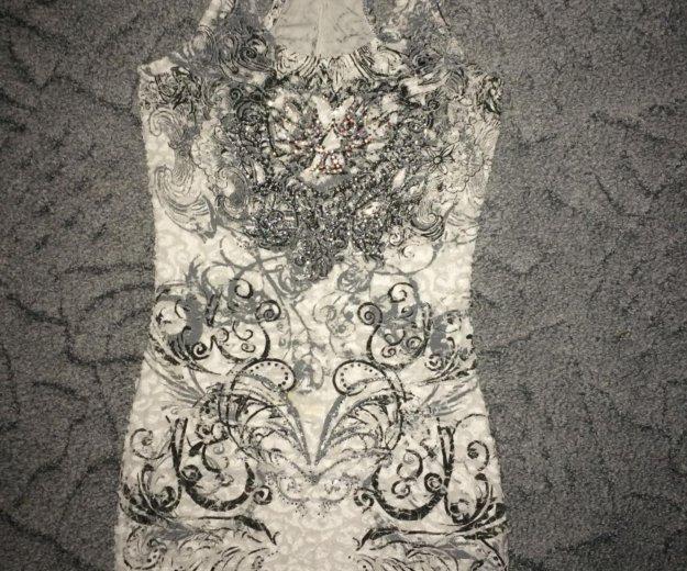 Мини платье 44 р со стразами. Фото 1. Москва.