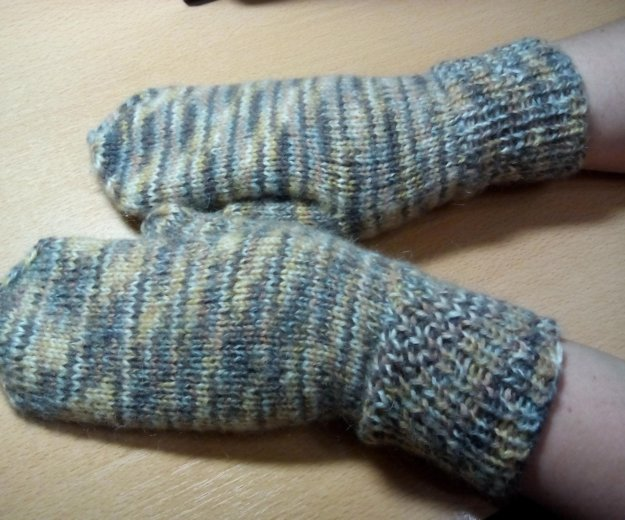 Варежки ручной вязки (связано для продажи). Фото 1. Кострома.