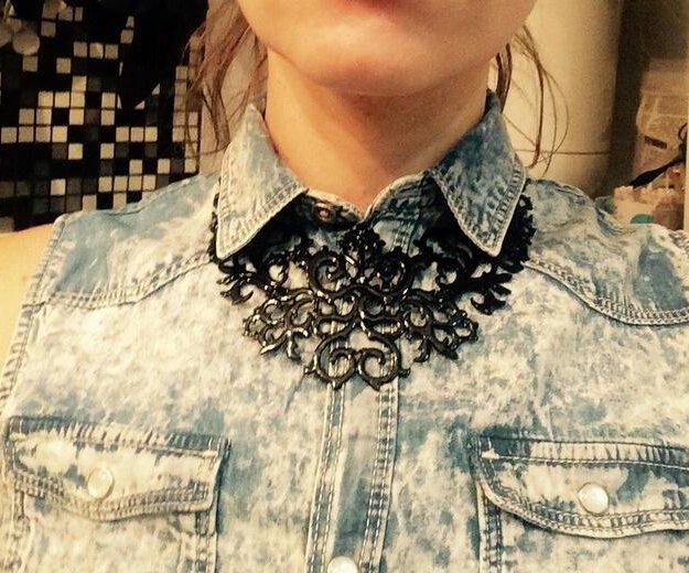 Колье ожерелье черное. Фото 2. Калуга.