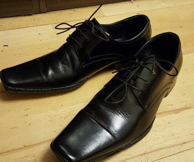 Кожаные туфли. Фото 1. Зеленоград.