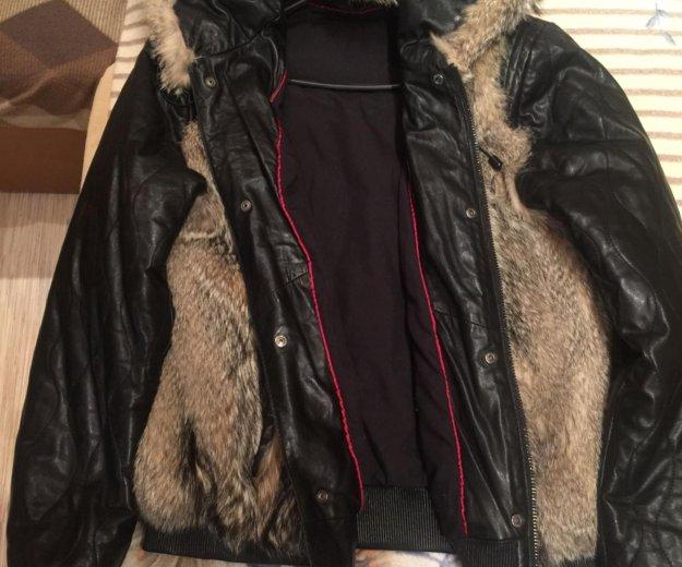 Мужская кожаная куртка. Фото 1. Тюмень.